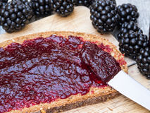Black Raspberry Jam Stock Images