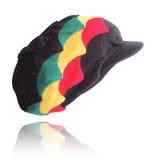 Black with Rasta Shells Peak Hat Royalty Free Stock Photo