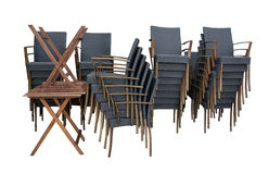Black rattan chairs Royalty Free Stock Photos