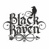 Black raven lettering. Hand drawn lettering in gothic style black raven Stock Photos
