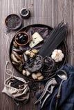 Black raw food ingredients Royalty Free Stock Photo