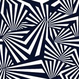 `Black Rays` - Abstract Mix Stripes Pattern for Textile Design royalty free illustration