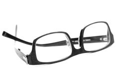 Black reading glasses isolated on white Royalty Free Stock Photos