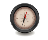 Black realistic compass Royalty Free Stock Photography