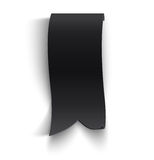 Black realistic curved paper banner Royalty Free Stock Photo