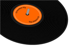 Black record album Stock Image