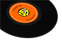 Black record album Royalty Free Stock Photo