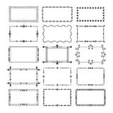 Black rectangle frames and borders emblem icons set royalty free illustration