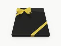 Black Rectangle Gift Box Stock Photo