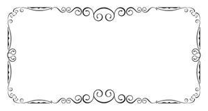 Black rectangular frame. Stock Image