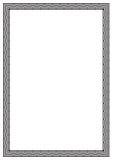 Black rectangular frame. Stock Photos