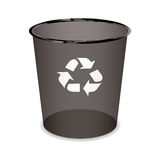 Black recycle can Royalty Free Stock Images