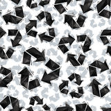Black recycle signs seamless pattern, geometric contemporary sty Royalty Free Stock Image
