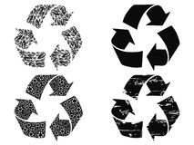Black recycling symbol Stock Photos