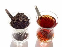 The black and the red. A piece of ceylon tea which added to classic gives it more delicous aroma Stock Photo