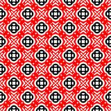 Black and red abstract background. Black and red abstract seamless pattern with curved and round shape vector illustration