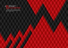 Black and red abstract background vector illustration, cover template layout, business flyer, Leather texture luxury. Can be used in annual report cover design Stock Image