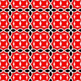 Black and red abstract background. Black and red abstract seamless pattern with curved and round shape royalty free illustration