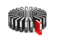 Black and Red Achive Office Binders Stock Images