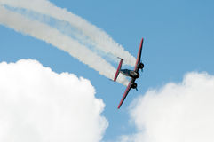 Black and red airplane Royalty Free Stock Photography