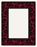 Black and Red Animal Print Photo Frame Royalty Free Stock Images