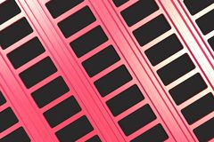 Black and red architectural elements. Abstract architectural background. 3D rendering illustration Royalty Free Stock Photography