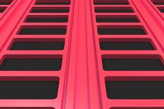 Black and red architectural elements. Abstract architectural background. 3D rendering illustration Stock Photography
