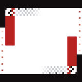 Black and Red Background. Black and Red Squares and Rectangles Background Royalty Free Stock Images