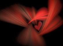 Black-red background with a heart symbol. Abstract black-red background with a heart symbol Stock Photo