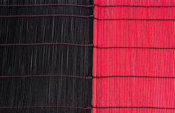 Black and red bamboo textures Royalty Free Stock Photos
