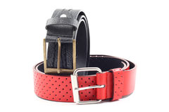 Black and red belts Stock Photography