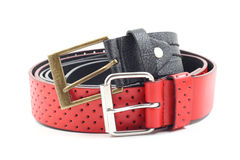 Black and red belts Stock Image