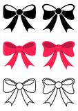 Black and red bows Royalty Free Stock Image