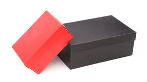Black and red boxes isolated Stock Images