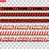 Black and red caution lines vector illustration