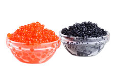 Black and red caviar Royalty Free Stock Photo