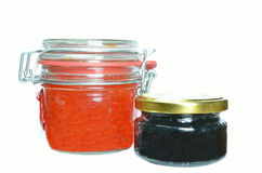 Black and red caviar Royalty Free Stock Image