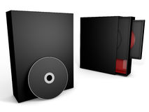 Black and red cd case box Stock Photo
