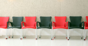 Black and red chairs Stock Photos