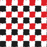 Black and Red Check Seamless Pattern Stock Images
