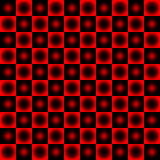 Black and red chessboard,. Abstract geometric background Stock Photos