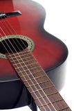 Black and Red Classic Guitar Stock Photo
