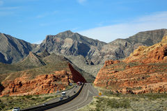 Black and red cliffs of Virgin River Canyon Royalty Free Stock Photography