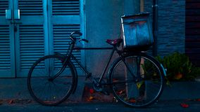 Black and Red Commuter Bike Royalty Free Stock Photos