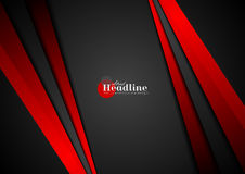 Black and red contrast abstract stripes background. Vector graphic design Stock Photo