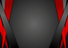 Black and red corporate tech vector striped design Stock Photos