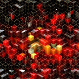 Black and red cubes abstract background Royalty Free Stock Photography