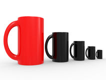 Black and red cups Stock Photography
