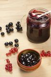 Black and red currant jam Royalty Free Stock Photography