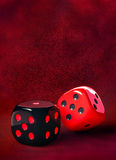 Black red Dice Royalty Free Stock Image